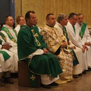 Bishops and deacons during the solemn Mass
